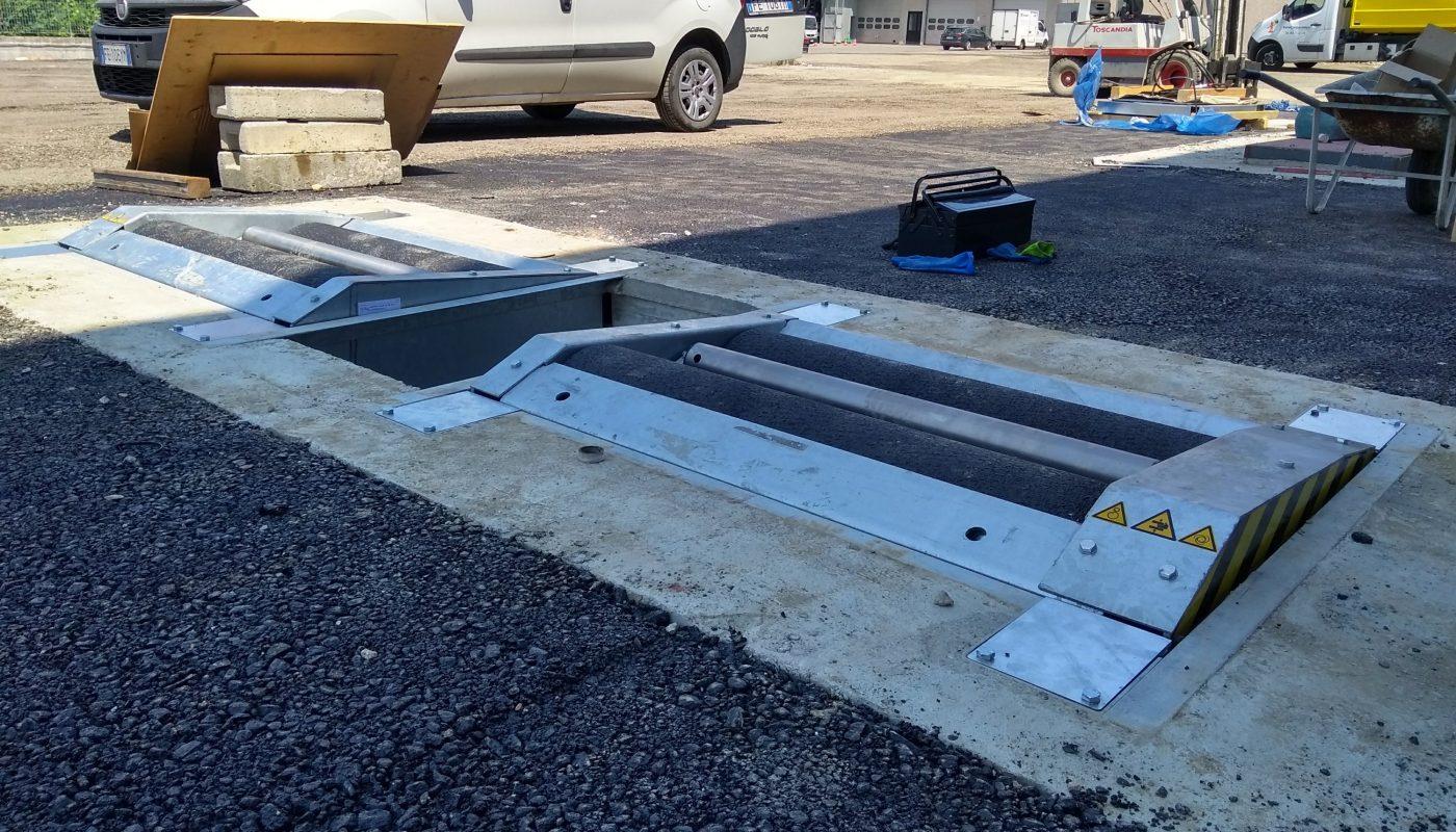 Installazione banco prova freni da carri